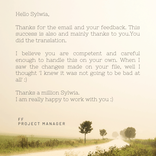 testimonial from translation agency